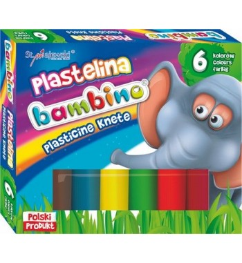 Plastelina BAMBINO, 6 kolorów