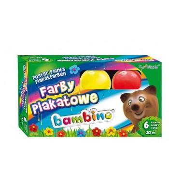 Farby plakatowe BAMBINO, 6...