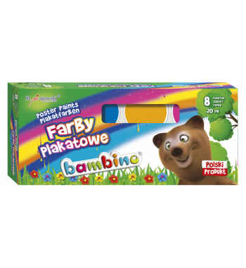 Farby plakatowe Bambino, 8...