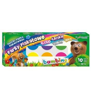 Farby plakatowe BAMBINO, 10...
