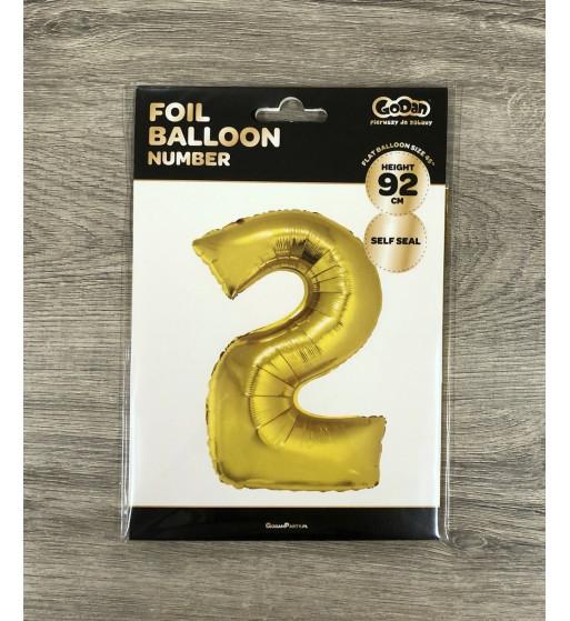DUŻY złoty balon na hel Gryfów Śląski