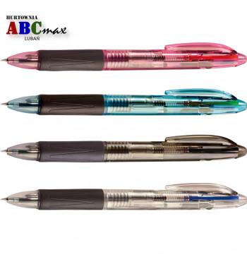 Długopis czterokolorowy w obudowie z tworzywa sztucznego TETIS Lubań